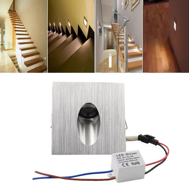 Led Recessed Light Wall Lamp Decoration Basement Bulb Porch Pathway Step Stair Aisle Lamps