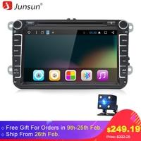 Junsun T39 Android 6 0 Car DVD 2 Din Radio Player 8 For VW Skoda Octavia