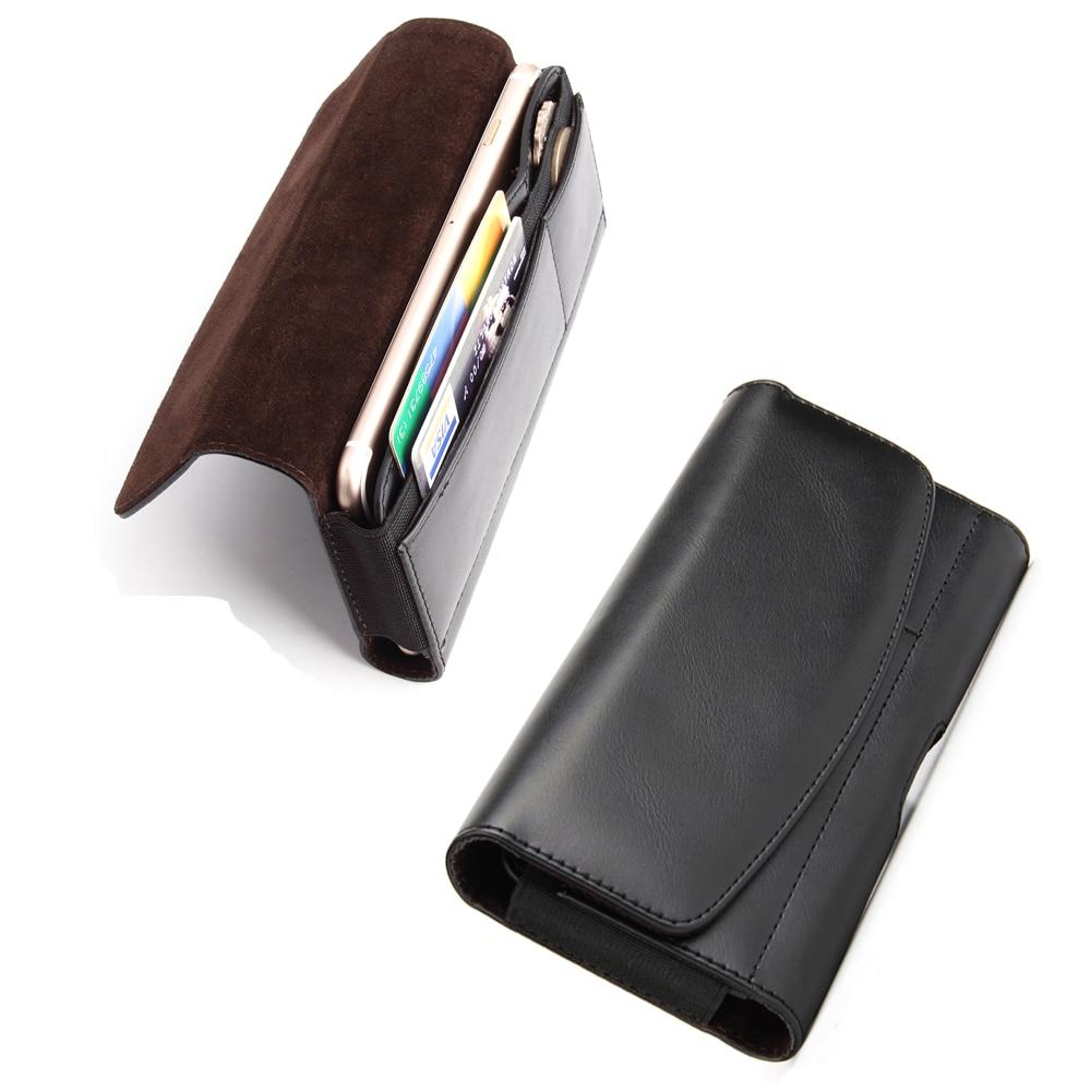 En cuir Mobile Téléphone Clip Ceinture de Caisse de Poche Pour Nokia 8 Sirocco, Leagoo Z7, asus Zenfone 5 Lite ZC600K, Oneplus 6