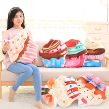 Creative 3D Simulation Cake Ice Cream Cushion Pillow Children Plush Toy Fill Doll Home Decor Girl Child Gift