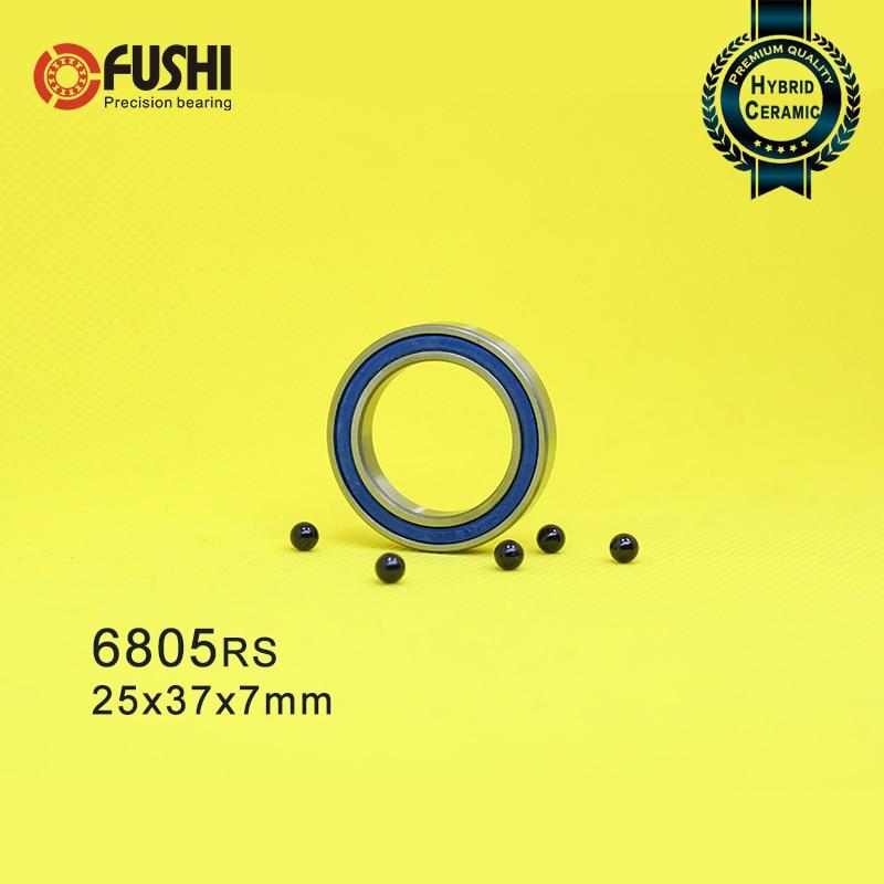 6805 Hybrid Ceramic Bearing 25x37x7 mm ABEC-1 ( 1 PC ) Bicycle Bottom Brackets & Spares 6805RS Si3N4 Ball Bearings6805 Hybrid Ceramic Bearing 25x37x7 mm ABEC-1 ( 1 PC ) Bicycle Bottom Brackets & Spares 6805RS Si3N4 Ball Bearings