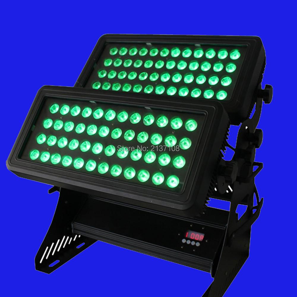 RGBWA+UV LED Wall Washer Light City Color 96*18W DMX DJ Disco Party Wedding Stage Effect Lighting Equipment 230V Free Shipping