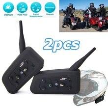 2 х BT 1200 м Мотоциклетный шлем Bluetooth гарнитура подключается до 6 гонщиков Бесплатная доставка