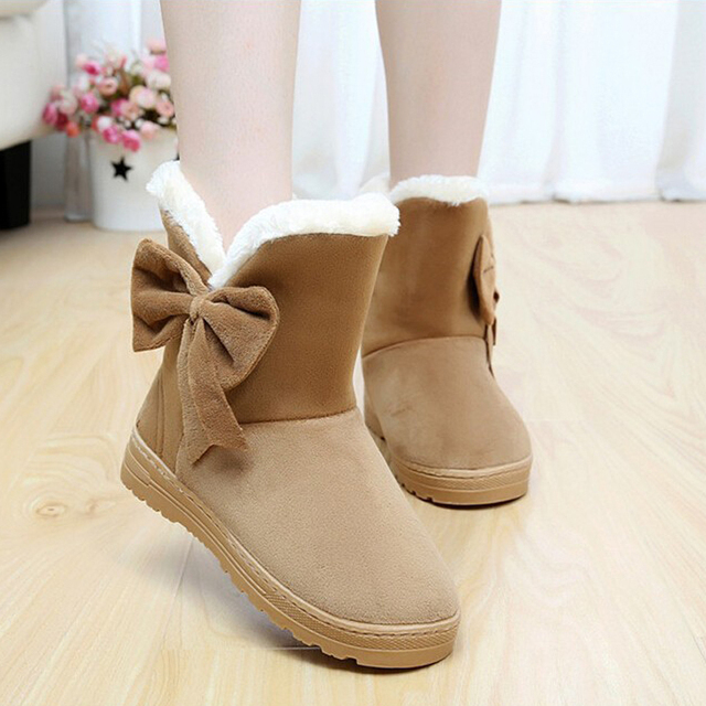 Women's Cute Wintertime Fur Lined Ankle Boots