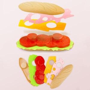 Image 4 - ילדי סימולציה מזון המבורגר נקניקיות מטבח צעצוע להגדיר להעמיד פנים לשחק חטיף מיניאטורי בורגר חינוכיים צעצועי ילדה ילד