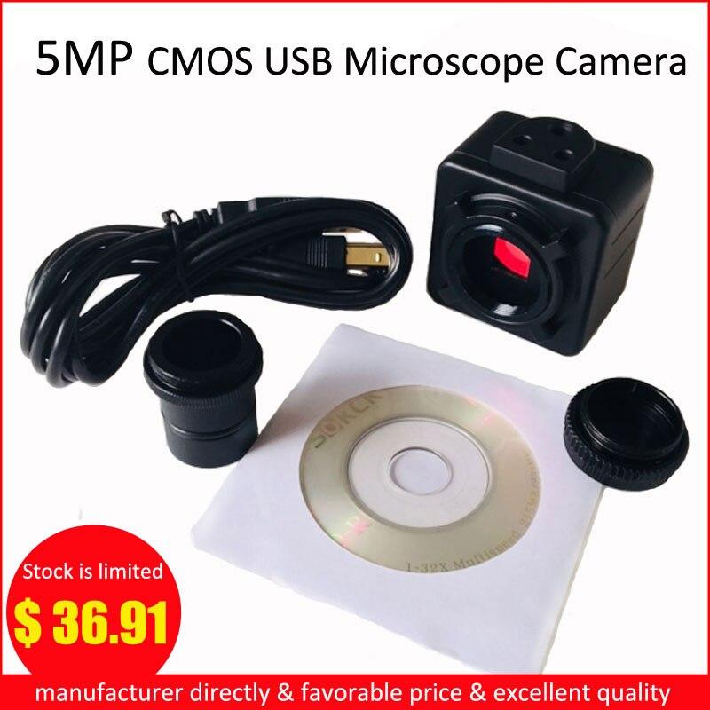 5MP Cmos USB Câmera Microscópio Digital Ocular Eletrônico Motorista Livre Câmera Microscópio de Alta Resolução de Alta Velocidade Industrial