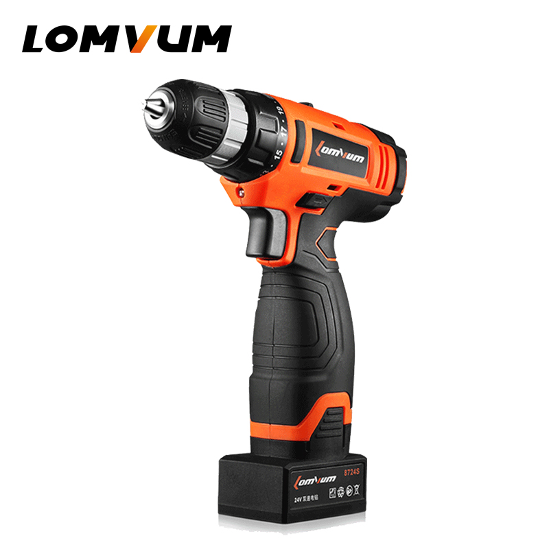 LOMVUM 24V Cordless Lithium/ Battery Electric Drill Adjust Household Variable Speed Rotary Tool DIY Carving Polishing Drilling mini electric drilling machine variable speed micro drill press grinder pearl drilling diy jewelry drill machines 5168e