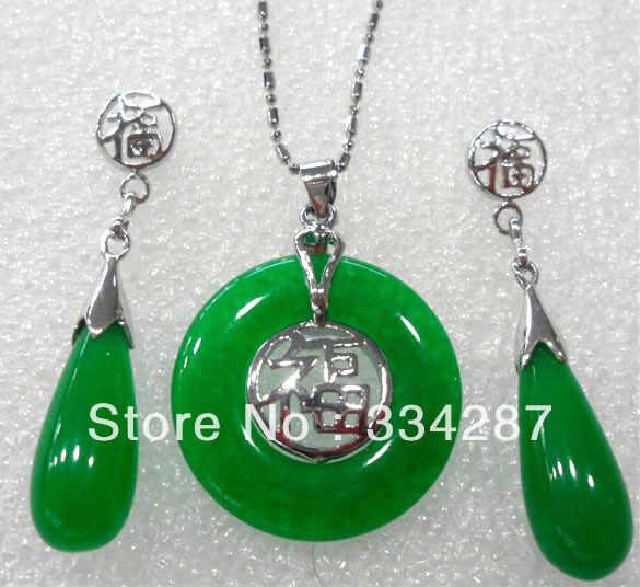 4 สี! แฟนซีสีเขียว/สีม่วง jades/สีดำ agates bless lucky จี้ต่างหู/แหวน