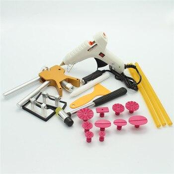 цена на AB PDR Tools Paintless Dent Repair Tool Dent Removal Dent Lifter Hand Tool Set PDR Toolkit Ferramentas with plug glue gun 40W