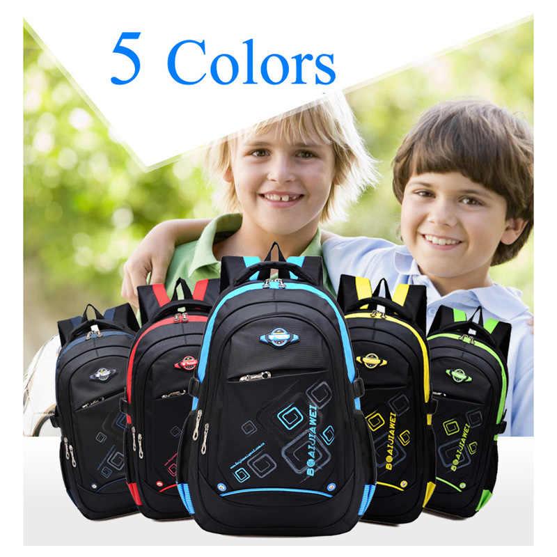 BAIJIAWEI Kinder Schule Taschen Kinder Wasserdichte Rucksack In der Grundschule Rucksäcke Für Mädchen Jungen Mochila Infantil Zip