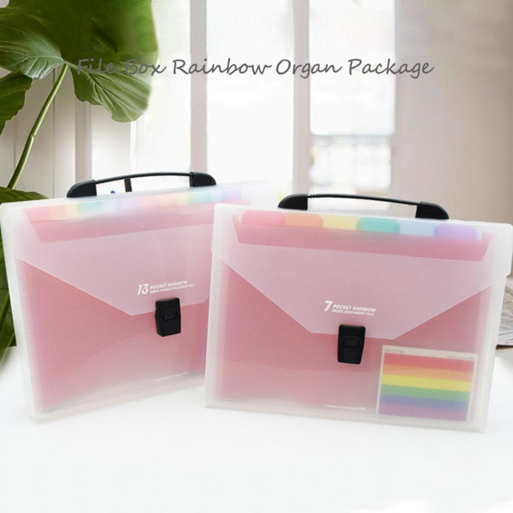 7 / 13 A4 File Manager Business Pockets Expanding Files Folder Multicolor Accordion Portable Office Student PP Folder Organizer