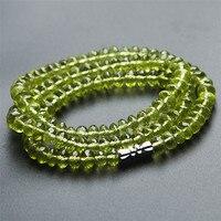 Натуральный Зеленый Перидот оливин граненые хрустальные бусины для женщин Очаровательное ожерелье AAAAA 6 мм