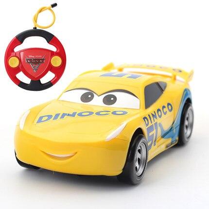 Disney Pixar Cars 3 2 Ligtning Mcqueen Jackson dinoco Cruz remote control RC Cars model for