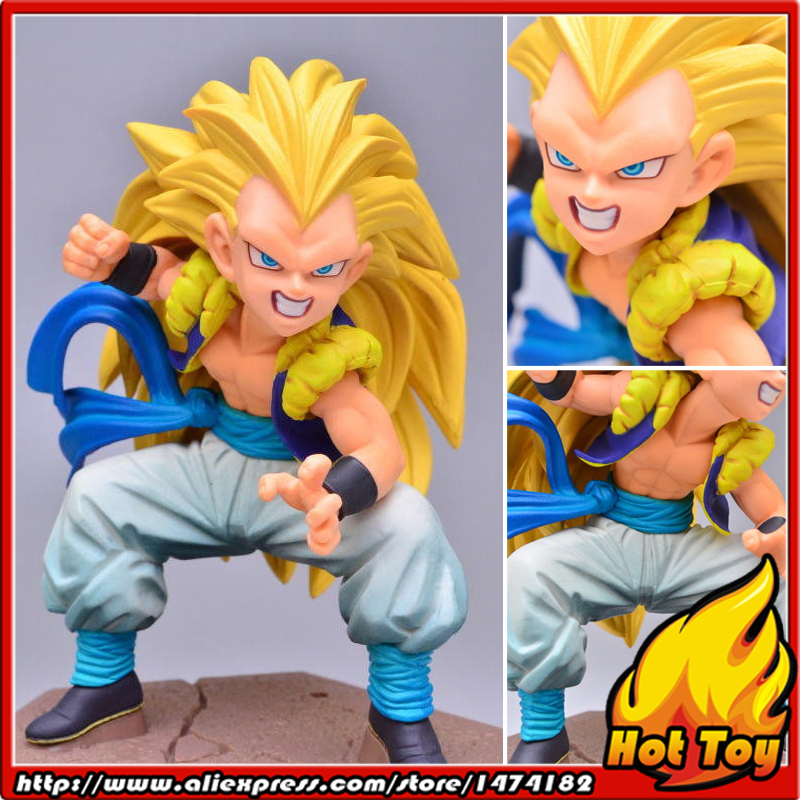 100% Original BANPRESTO DXF Fighting Combination Vol.3 Complete Collection Figure - Gotenks Super-Saiyan 3 from Dragon Ball Z dragon ball super original banpresto dxf the super warriors vol 4 collection figure super saiyan god super saiyan son goku
