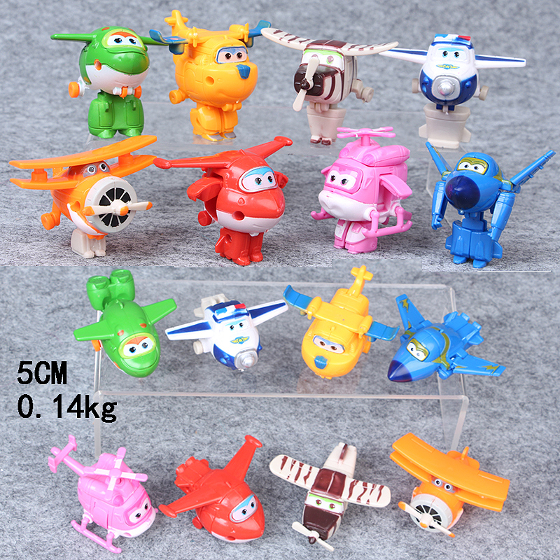 Deformation Robot Toys Doll Action-Figure Super-Wings Collectors Christmas-Gift 8pcs/Set
