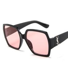 Moda de hombre de gran tamaño cuadrado gafas de sol de las mujeres hombres 1d2fcb0ca997