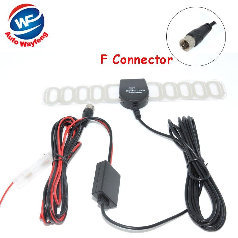 F Conector DVB-T ISDB-T de TV Digital Do Carro Antena de TV ...
