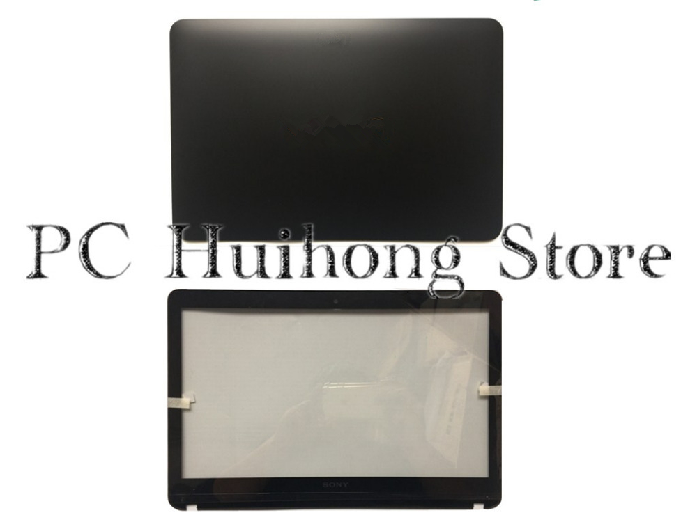 New/Orig For VAIO SVF142A Touchscreen LCD Back Cover Front Bezel EAHK8004010  4HHK8BHN000 Black  цены онлайн