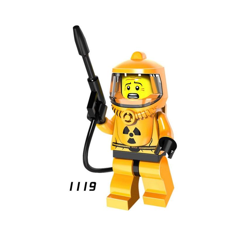 Single Sale Super Hero Star Wars 1119 Nuclear Worker Mini Building Blocks Figure Bricks Toys Kids Gift Compatible Legoed Ninjaed