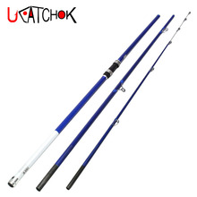 wholesale 2pcs/pack 4.2m Casting 100-200g lure weight high carbon fiber 3section surf rod carp far casting beach