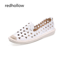 Women's Flats Shoes Embroidery Fisherman Female Slip On Loafers Summer Women Shoes Cut Out Hollow Out Casual Shoes Moccasins kids hollow out flats
