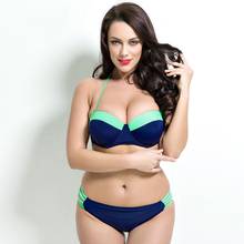 2018 New arrival plus size bikini women Bathing Suit Push up Swimwear women Super Large Cup Sexy plus size Swimsuit Beachwear 2017 women plus size bikini set high quality bathing suit push up biquini super large cup swimwear sexy 4 colors solid swimsuit