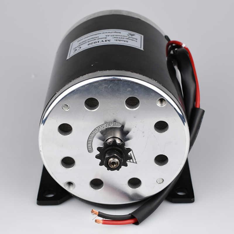 UNITEMOTOR MY1020 800 W 36 V/48 V عالية السرعة فرشاة DC دراجة نارية إلكترونية موتور E سكوتر Ebike فرشاة موتور تروس