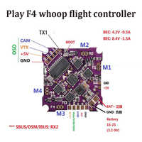 Play F4 whoop Flight Control 1-2S integrated 4 in 1 Brushless ESC support DSHOT Oneshot125 Multishot PWM for FPV Drone