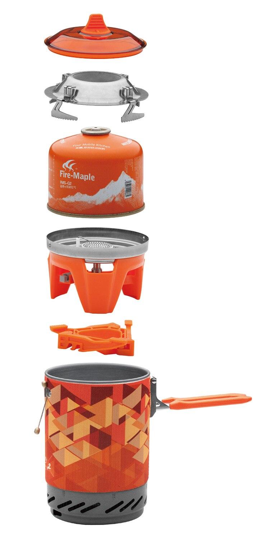 Système de cuisson personnel extérieur érable feu randonnée équipement de Camping OvenPortable meilleur poêle à gaz Propane brûleur ensemble Pot de FMS-X2 - 3