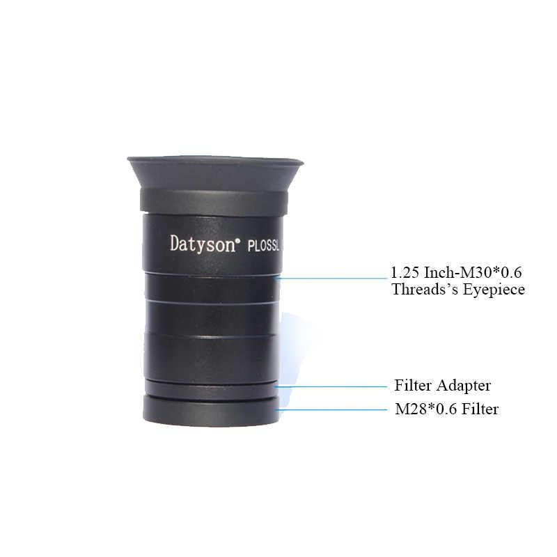Datyson 1.25 인치 필터 어댑터 M30 * 1 M28 * 0.6 나사 천체 망원경 액세서리