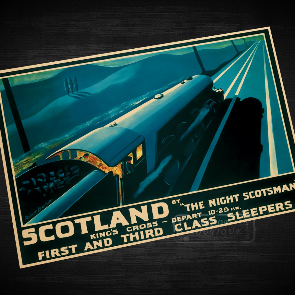 Vintage Style Railway Poster Scotland Murrayfield Rugby A4//A3//A2 Print