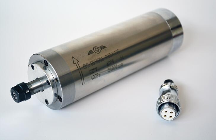 Broche De Refroidissement Par eau GDZ 65 800A 0.8Kw CNC 800W Broche Moteur Dia.65mm ER11 220V 5A - 2