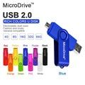 9 Colores Giratorio OTG unidad Flash pen drive 4 gb 8 gb 16 gb 32 gb 64 gb para Android tableta del teléfono móvil de Memoria stick USB 2.0 OTG flash