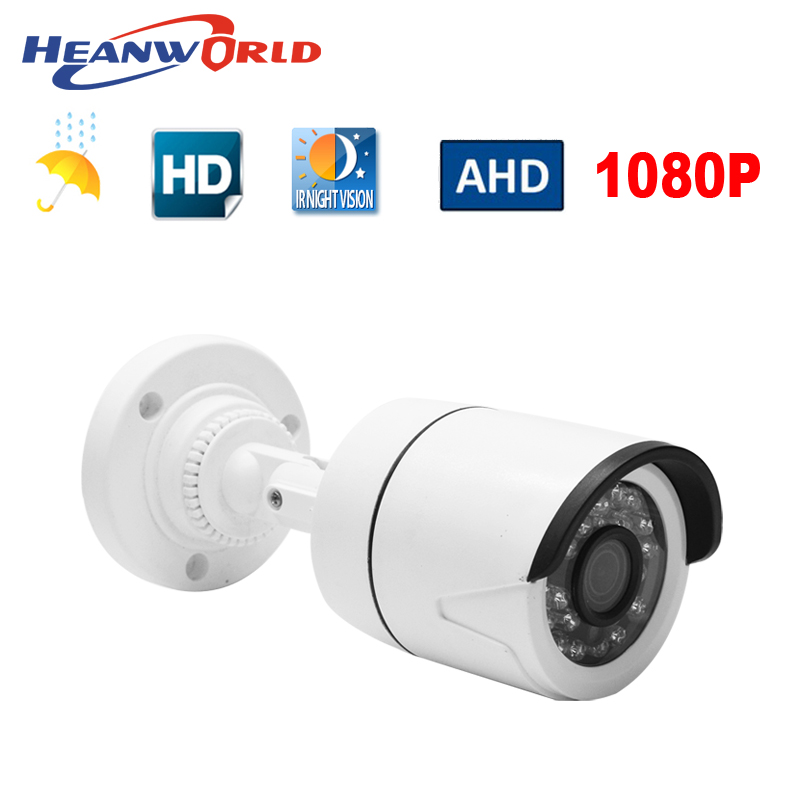 Mini AHD camera 2.0MP 1080P HD Outdoor bracket analog Camera night vision security CCTV Surveillance camera ABS plastic home use