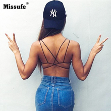 179ca8eb8ca70 Missufe Sexy Cross Back Fitness Tank Top Women 2018 Summer Slim Bandage Bra  Camis Streetwear Girls