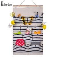 LanLan 13 Pocket Folding Door Hanging Bag Wall Fabric Closet Hanging Storage Bag Organizer Makeup Sundries