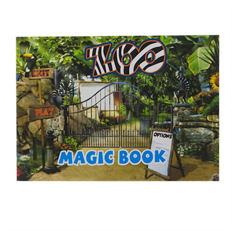 Magic Moving Images Books Animal Pictures Magic Tricks Props Toys Animated Optical Illusions Kids Gifts