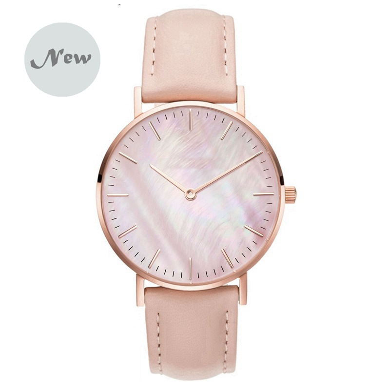 REOULIONS New Coral Shell Fashion Retro Watch Stainless Steel Mesh Belt ROSEGOLD Quartz  Relogio Feminino  Watches For Women11