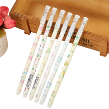 30Pcs/lot Kawaii Flower Shivering 0.5mm Black Ink Gel pen Party Favors Student Gift Interesting Presents For Friend Novel gifts