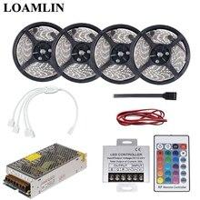 5 м 10 м 15 м 20 м RGB светодиодные гибкие полосы света SMD2835/3528 с 24 клавишами RGB Led контроллер драйвер адаптера питания комплект