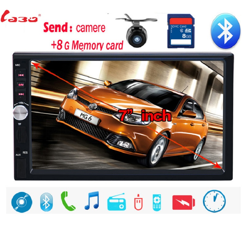 NEW 7'HD Touch Screen Car MP4 MP5 player BLUETOOTH hands free rear view camera automotivo free shipping elc12 e aq i standard elc 12 series expansion modules 2 channels output current signal