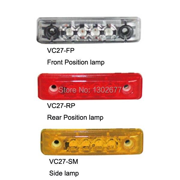 E-MARK утвержден светодиодный задний фонарь с 4 шт. SMT СВЕТОДИОДНЫЙ s, излучающий красный свет, PMMA красный объектив, DC12V или DC24V