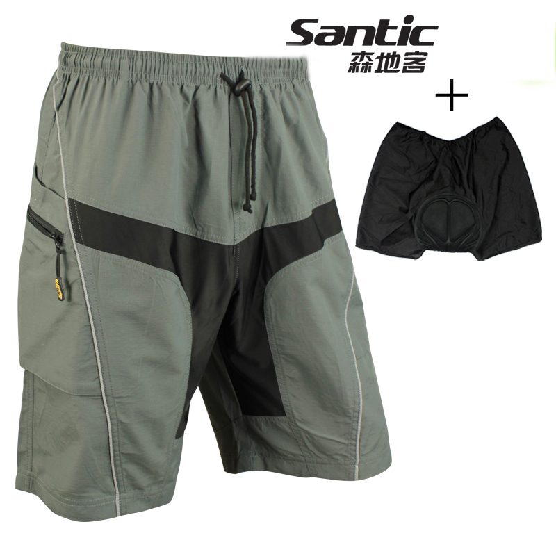 все цены на Santic Summer Men Cycling Shorts Downhill MTB Road Bike Shorts Bicycle Ridding Racing Shorts with Removable Underwear Padded онлайн