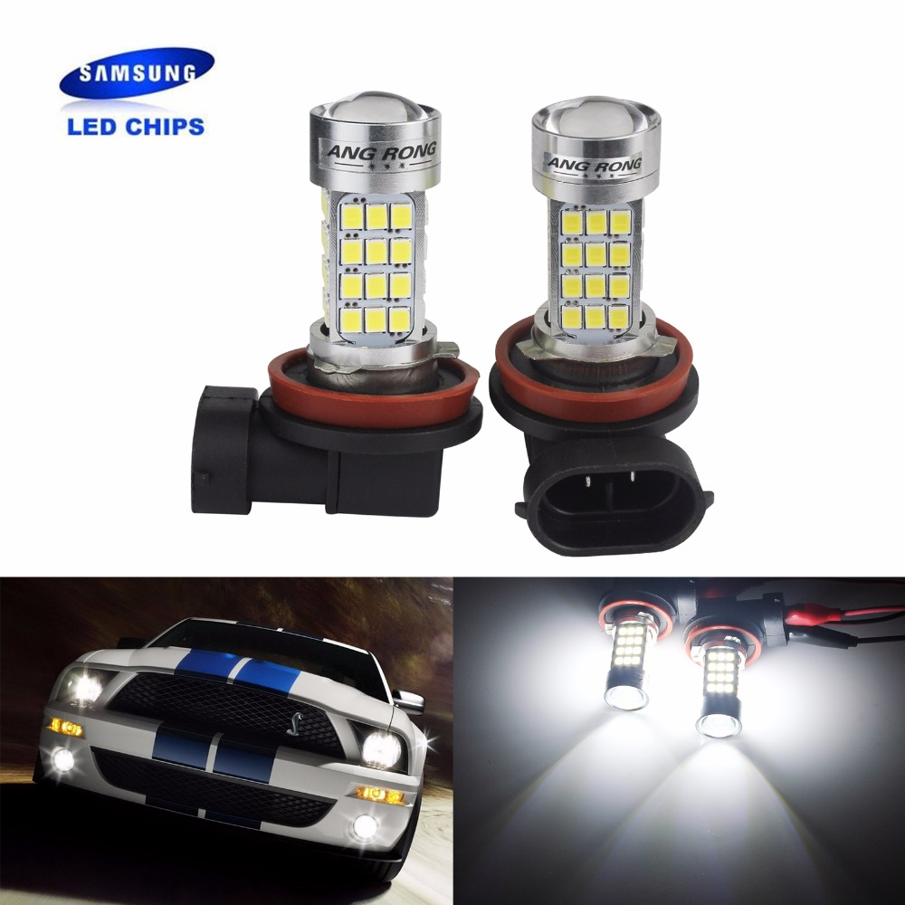 ANGRONG 2x45 W 2000LM H11 H8 ampoule SAMSUNG 54SMD haute puissance phare LED antibrouillard lampe (CA275x2)ANGRONG 2x45 W 2000LM H11 H8 ampoule SAMSUNG 54SMD haute puissance phare LED antibrouillard lampe (CA275x2)
