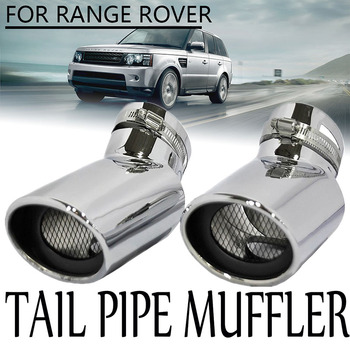 2Pcs Stainless Steel Oval Tip Exhaust Muffler Tail Pipe For Range Rover Sport Diesel Car Auto Round