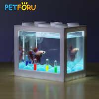 PETFORU Betta fish Fighting Cylinder Rumble Fish Cylinder Mini Aquarium Building block fish tank