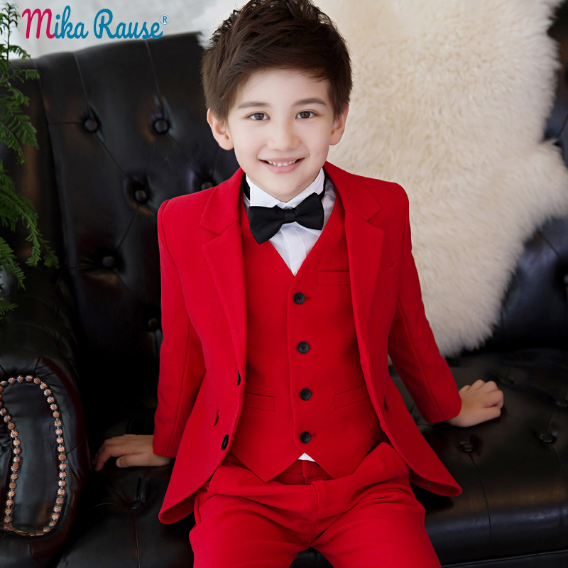 2019 flower boy suits for weddings childrens Red formal suit jacket boy blazers sets kids party clothes tuxedo teenager uniform2019 flower boy suits for weddings childrens Red formal suit jacket boy blazers sets kids party clothes tuxedo teenager uniform