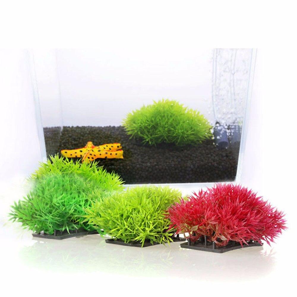 Aquarium Artificial Grass Decor Water Weeds Ornament Underwater Aquatic Plant Fish Tank Habitat Decorations Landscape Ornaments