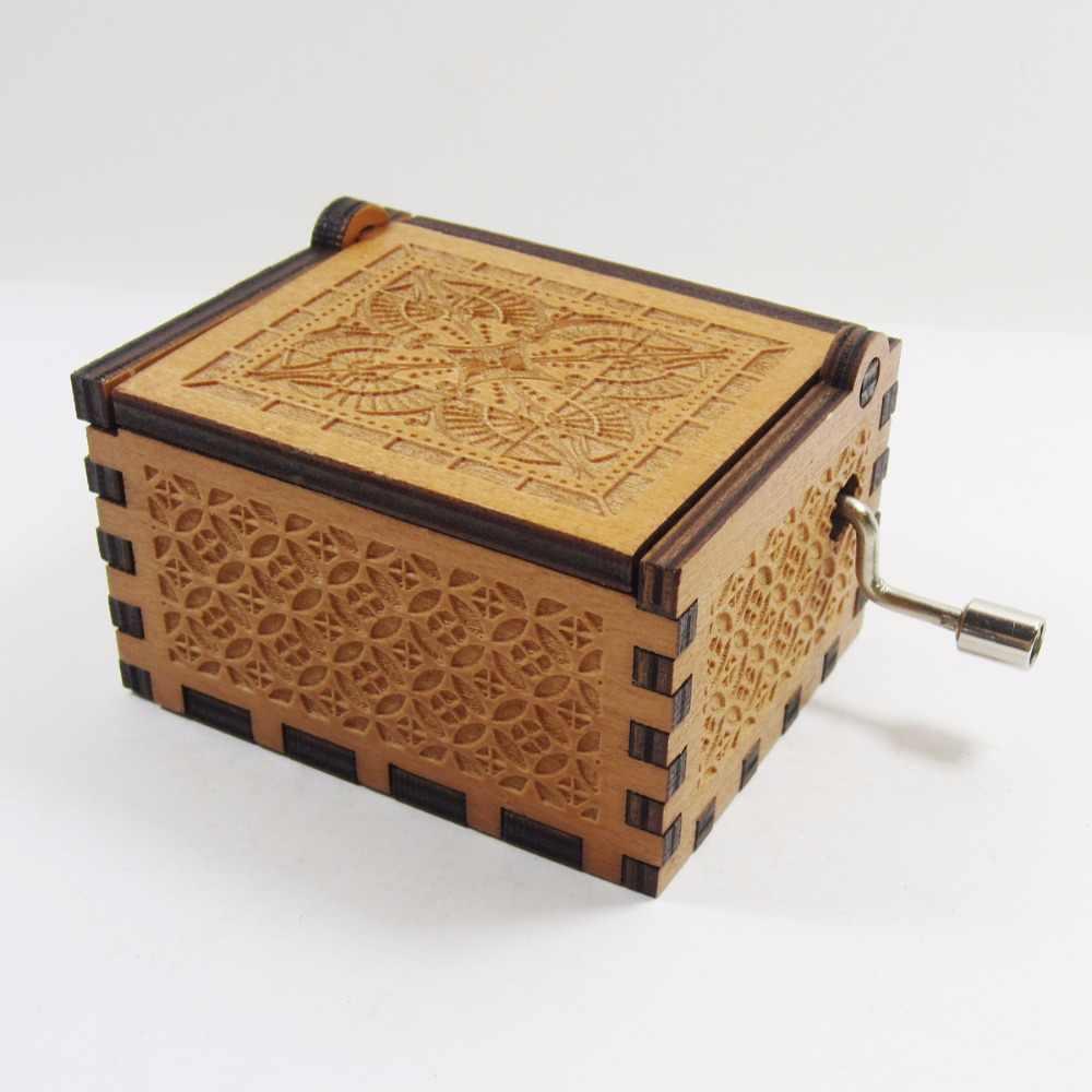 Antico intagliato in legno di game of thrones music box, regalo di natale, regalo di nuovo anno, regalo di compleanno