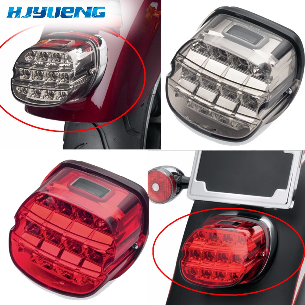 Motorcycle Rear Lamp Harley Electra Glide Led Brake Tail Light Dyna Softail Fatboy FLSTF Night Train FXSTB Sportster Road King brand new diy 125khz rfid door access control kit set with electric bolt lock 10 rfid keyfob card full access control system
